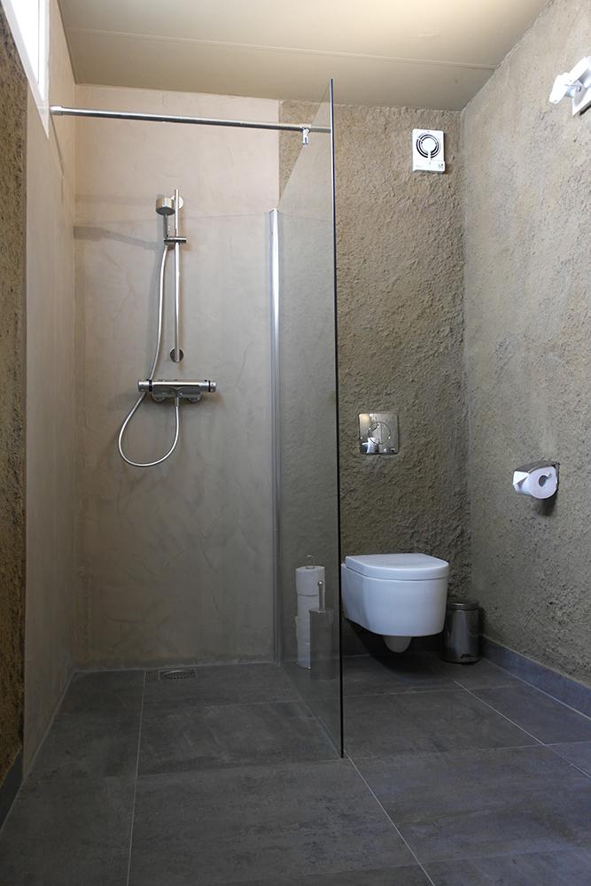 renovatie badkamer gyproc: nis in badkamer muur maken logboek, Badkamer